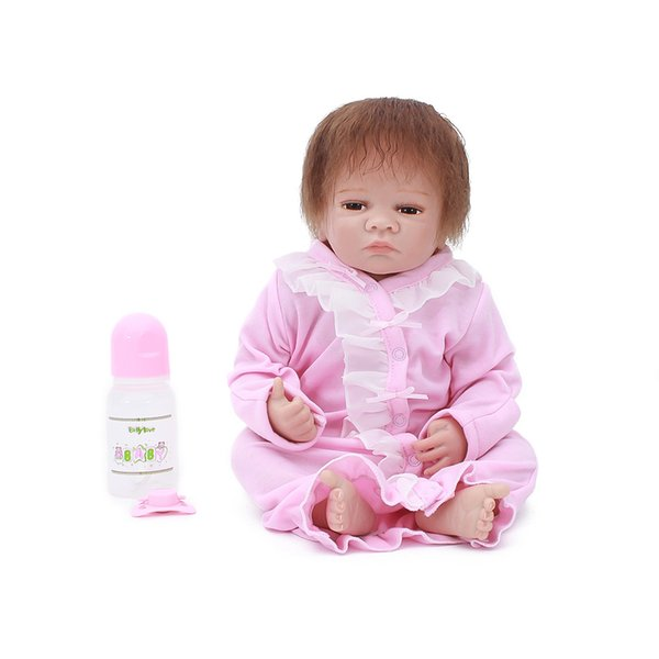 Reborn baby dolls 20 بوصة الطفل الحقيقي سيليكون دمى الفينيل تولد من جديد هدية عيد لعب الاطفال رائعتين فتاة دمية bebes