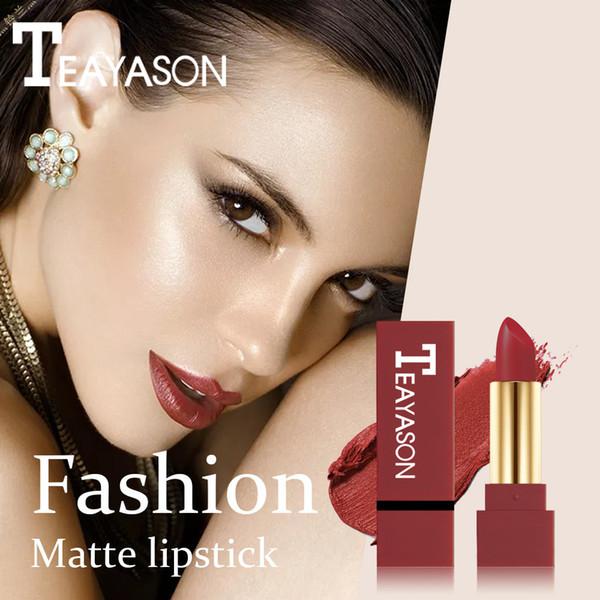 Matte Lipstick Wasserdicht Pigment Brown Nude Long Lasting Lippenstift Matte Make-up Pintalabios Rojo Labial Mate Pinta Labios # YL10