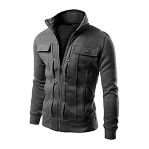 Men's Hoodies Sweatshirts Zipper Hooded Jacket Pocket Design Men Pullover Hooded Without Hat Hoodie Sweatshirt For Men Clothing
