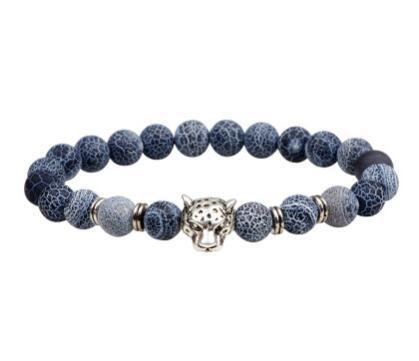 Bracciale a distanza per coppie Classico Stile di pietra naturale Braccialetti di perline per uomo Donna Migliore amico