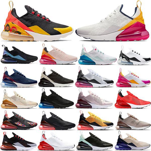 Nike Air Max 270 Laser Fuchsia Universidade Ouro Luz Orewood Brown Running Shoes Para Mulheres Homens Regency Roxo Lavado Coral Domingo de Páscoa Sneaker