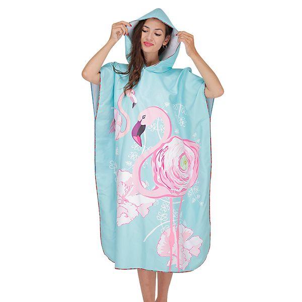 2019 New Women Men Unisex Hooded Sweatshirt 2019 Summer Cute Cartoon Printed Bathrobe Quick Dry Beach Windproof Coats Loose