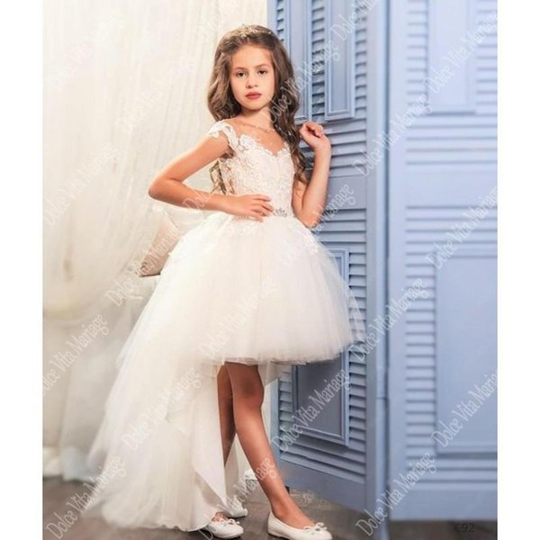 Girls Dress Fancy Kids Lace Dresses Flower Mesh Children Wedding Gowns Formal Prom Vestidos Baby Frocks for Girl