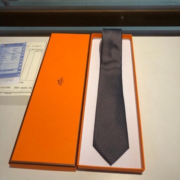 Laço casual Mens Moda Lazer tie Top sarja de seda gravata artesanal denso padrão geométrico assimétrico