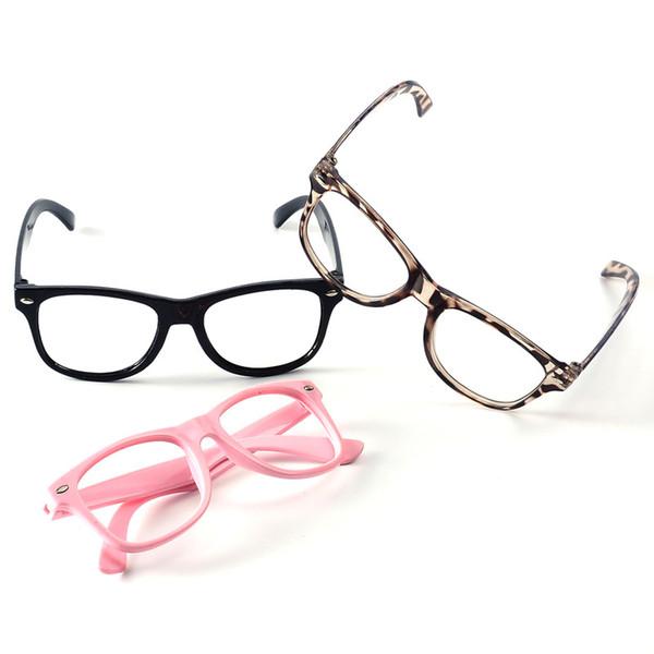 Volltonfarben-Glas-Rahmen Fashion Boy Sport Brillen Rahmen Kinder Sonnenbrillen Fram Kinder Keine Objektive Baby-Party Brille TTA1209-14