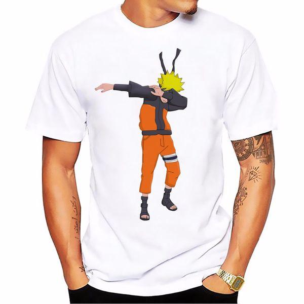 Dabbing funny t shirt hombres blanco casual plus size tee shirt homme cute cartoon DAB dance Kakas camisetas para hombre
