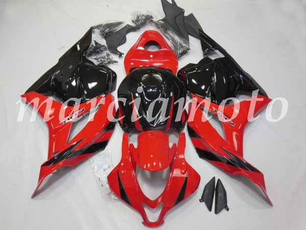 Nuevo (moldeo por inyección) del carenado del ABS Fit Kits para Honda CBR600RR F5 2009 2010 2011 2012 f5 09 10 11 12 Set de carenados Brillo Rojo Blanco y Negro