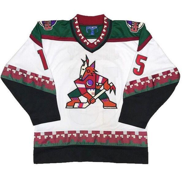 Männer Frauen Jugend Phoenix Arizona Coyotes # 15 Craig Janney 35 Darcy Kuemper 23 Oliver Ekman-Larsson 9 Clayton Keller Eishockeytrikot 5XL 6XL