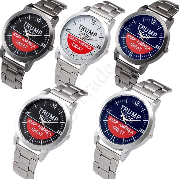 top popular Watches Donald Trump 2020 Men Quartz Wristwatch Keep America Great Stainless Strap Watch Retro Unisex Watches C91707 2020