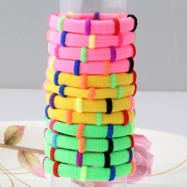 M MISM 12PCS Colorful Elastic Hair Bands Hair Accessories Rubber Band Bezel Scrunchy For Women Girls Kids Gum For