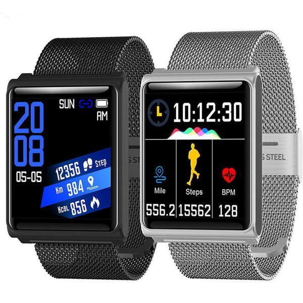 N98 Smart Watch Männer Frauen smart watches Fitness Track Band Herzfrequenz-Blutdruckmessgerät Wasserdicht Armband Wecker DZ09