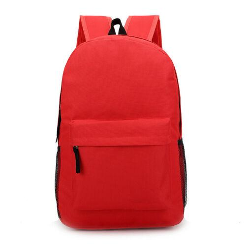 Women's Canvas Backpack Men's Women's Student Leisure Travel Bag Business Laptop (red)