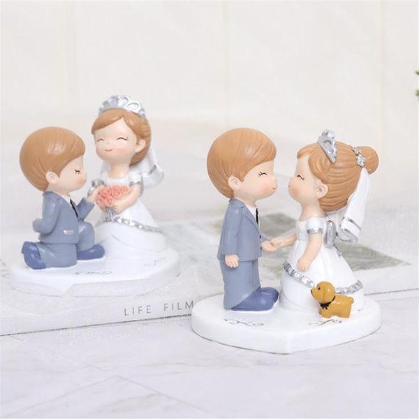 Se la resina creativa auto coppia matrimonio decorazione della casa torta con decorativo regalo di San Valentino 1123 1124
