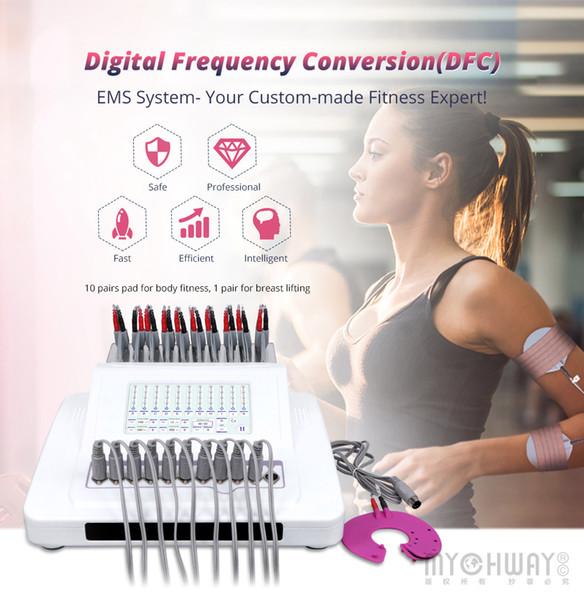 En iyi Dijital Frekans Dönüşüm DFC EMS Vücut Zayıflama Sistemi Vücut Meme Masaj Rahatlatıcı Yağ Zayıflama Makinesi