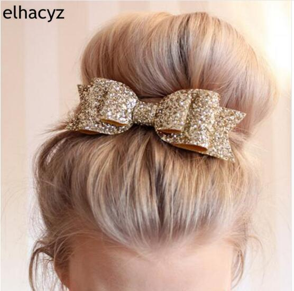 Hair Clip Women Baby Girl Big Glitter Hair Bow Kids Hairpins Hair Clip For Children Hairs Accessories Toddler Headwear