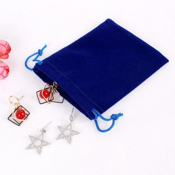 20pcs/lot Royal Blue Velvet Bags 13x18cm Large Pouches Jewelry/Gift Packing Bags Candy/Wedding Gift Bags Free Shipping