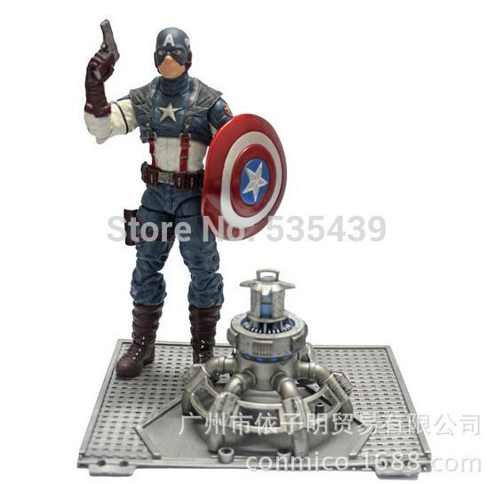 YENİ Hot 1pcs 18cm Avengers Kaptan Amerika PVC Action Figure oyuncaklar Noel hediyesi oyuncak