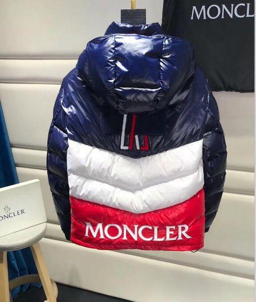 Heißer Verkaufs-Daunenjacke für Mens Fashion Parkas Männer Windjacke mit Muster Sport Jacken-Mantel-Kleidung Größe M-3XL erhältlich