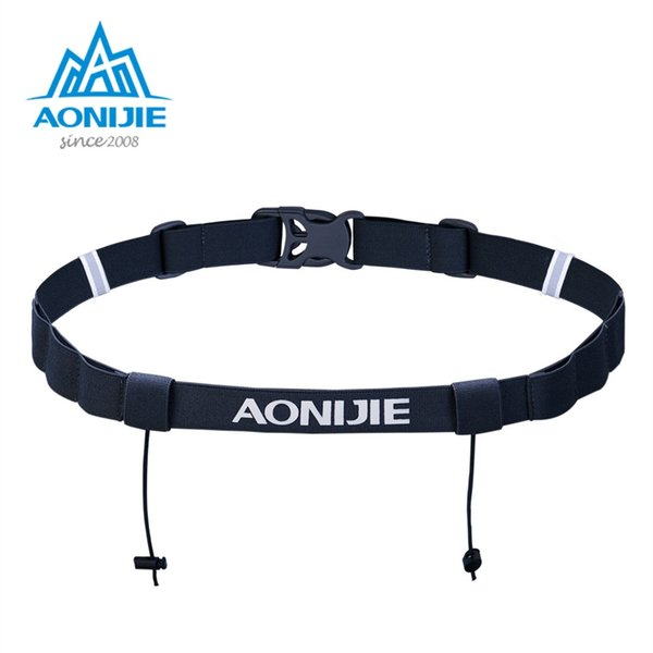 AONIJIE Unisex E4076 E4085 Running Race Number Belt Waist Pack Bib Holder For Triathlon Marathon Cycling Motor with 6 Gel Loops #29197
