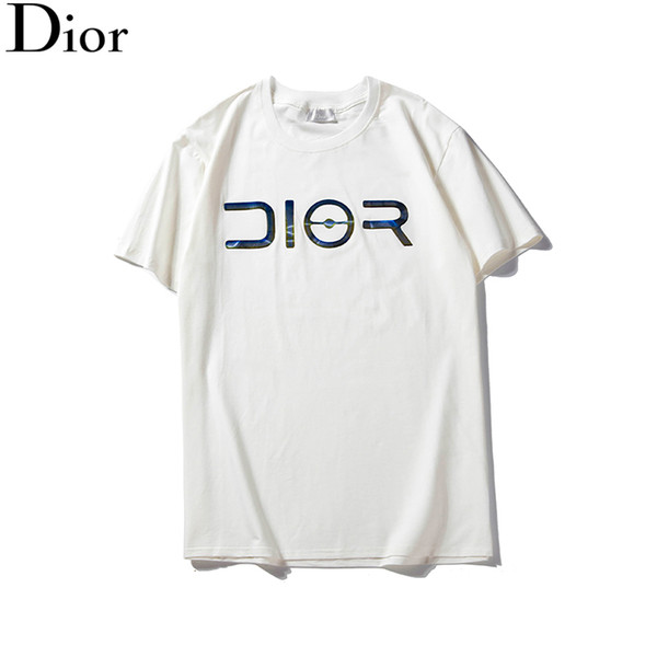 Mens Designer T-Shirts Awsome Classic Big D Laser Print Pullover Summer Short Sleeve Top Fashion Brand Blouses Casual O Neck Women B100075L