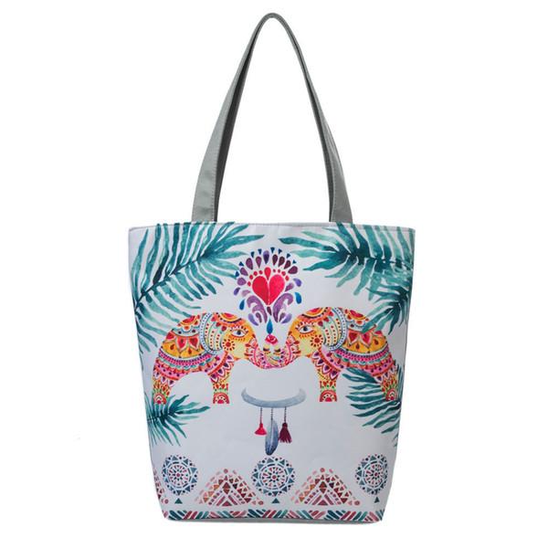 Cheap Fashion National Wind Canvas Tote Casual Beach Bags Women Shopping Bag Handbags Designer Famous Brand Handbag