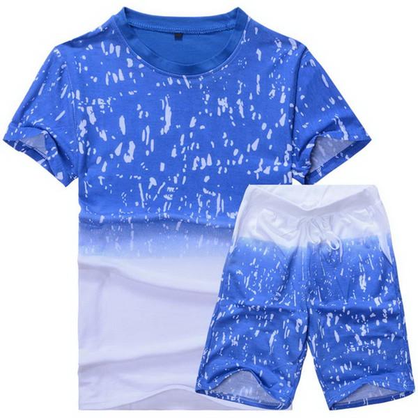 Laamei 2019 verano nuevos hombres pantalones cortos trajes casuales ropa deportiva conjuntos de ropa pantalones masculinos sudadera ropa de marca de los hombres 4XL