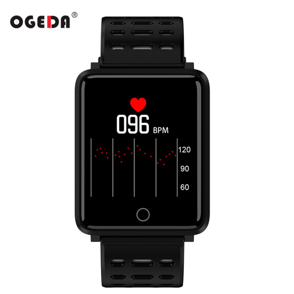 2019 New OGEDA Smart Watch Sports Fitness Bracelet F3 IP68 Waterproof Heart Rate Health Monitoring For Android and iOS