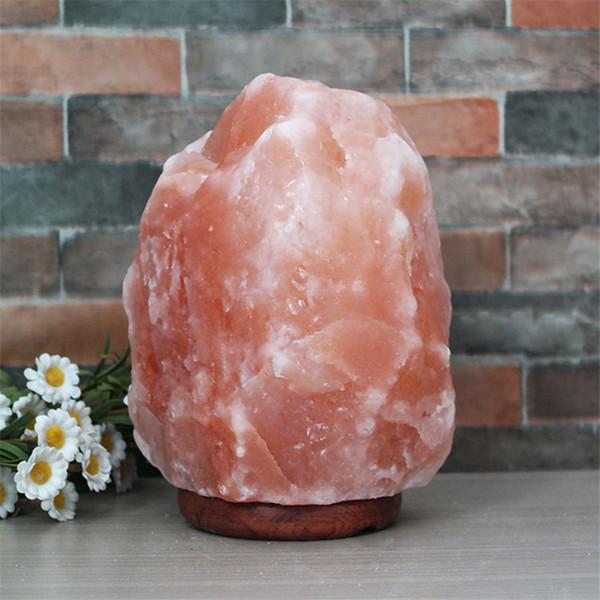 Acheter Dhx Sw Usb Cristal De Himalayan Lampe De Sel De Rose Naturel Sculpte A La Main Lumiere Chaude Mer Sel Cristal Pierres Nuit Lumiere Pour