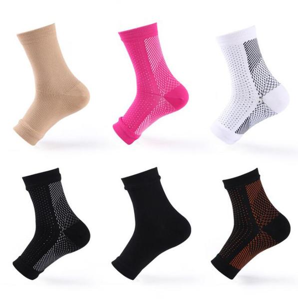 Chaussettes de compression pour pieds 6 couleurs Chaussettes de sport anti-fatigue ange en plein air