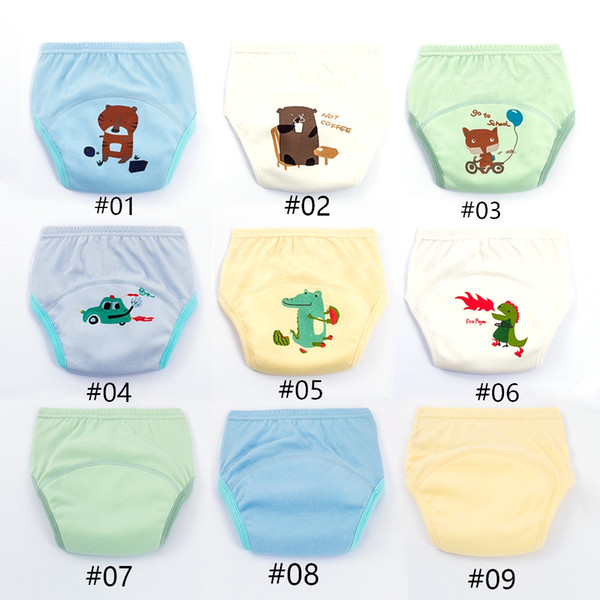 18 Colors Cute Baby Diapers Reusable Nappies Cloth Diaper Washable Infants Children Baby Cotton Training Pants Panties Nappy Changing