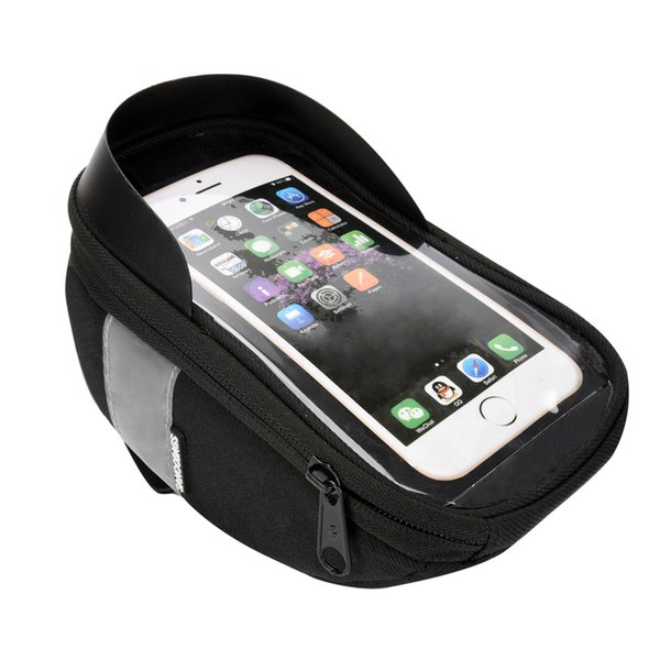 Sahoo 112003 Cycling Bicycle Bike Head Tube Handlebar Cell Mobile Phone Bag Case Holder Case Pannier For 5.5in Phone