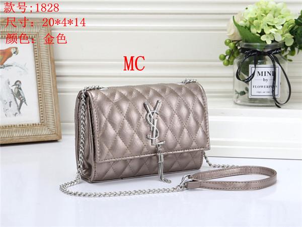 2019 new fashion hot ladies plaid PU metal storage multi-capacity OL business work shopping shoulder bag lady handbag Multicolor buckle