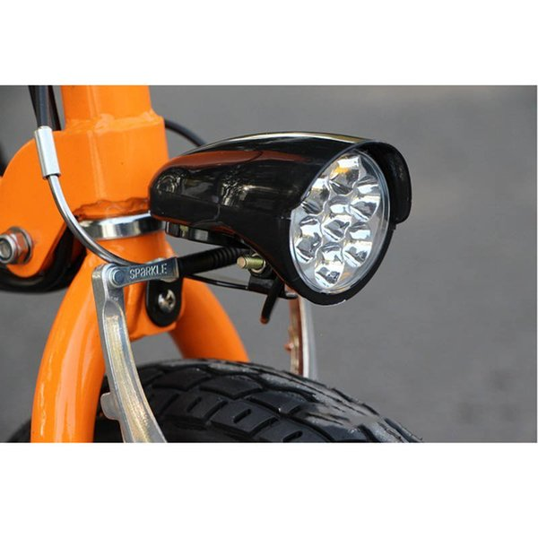 36V 48V EBike Light Scooter Lamp Electric Bicycle Front Headlight W// Horn Switch