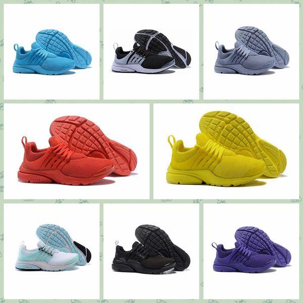 Nike Pristo 2019 Prestos BR QS Zapatillas de deporte para mujer Tripel Negro Blanco rojo Zapatillas de deporte Zapatillas de deporte atlético Jogging size36-45 envío gratis