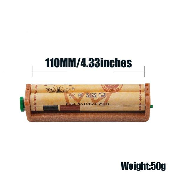 Cigarette Gerät aus Kunststoff 110mm Manuelle Zigarette Walzmaschine Tabak Injector Maschine Roller gelben Farben leicht zu bedienen Freie Verschiffen YH ST0