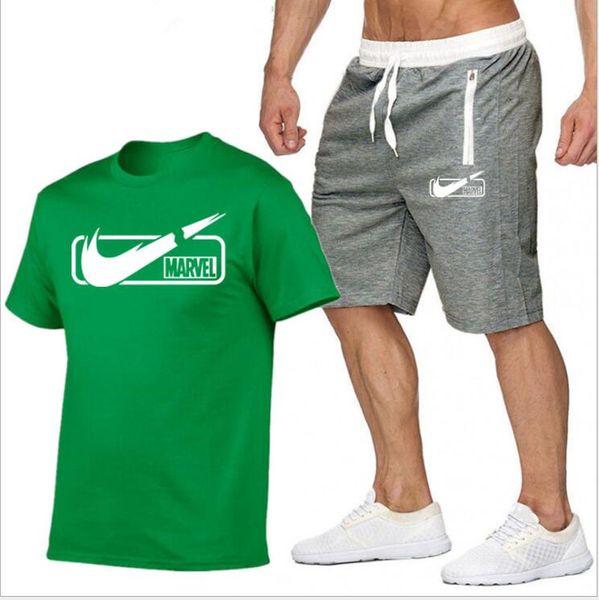 brand Sets Summer 2019 Men T Shirts+Shorts Sets Summer Hot Sale Cotton Comfortable Short Sleeve Tshirt men Casual Set Pant S-XXL