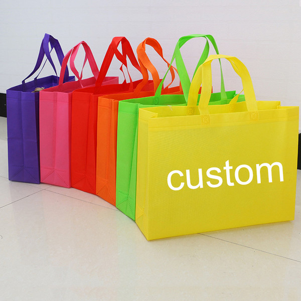 Promotional Customized Colors Eco Tote Non-Woven Shopping Bag Recyclable PP Non Woven Bags For Shopping Promotion Garment Packing