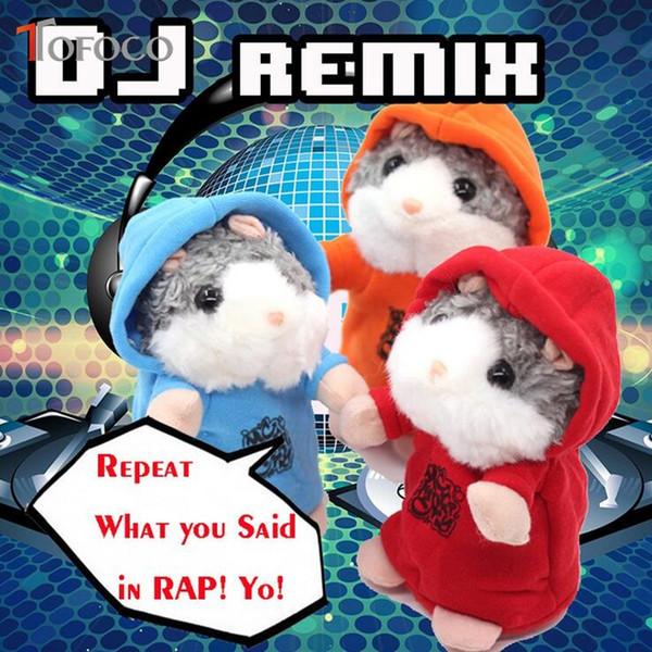 MC DJ Talking Hamster Talk Sound Record Repeat Hamster Stuffed Plush Animal Kids Child Toy Talking Hamster Plush Toys Christmas Gifts