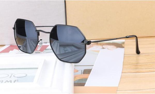 Оптовая продажа-полигон солнцезащитные очки мужчины женщины бренд дизайн металлический каркас feminino маскули очки oculos de sol с бесплатными чехлами и коробкой
