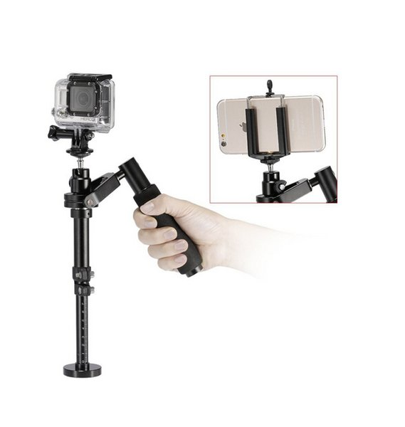 Freeshipping New action camera Metal Sport Camera For GoPro Handheld Steadicam Video Stabilizer With clip,steadycam for go pro and phone