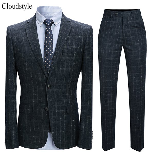 Cloudstyle 2019 Fashion Brand Male Suit Blazer Pant Smart Casual Skinny Suits Men Clothing New Arrival Men Jackets Plus 6XL