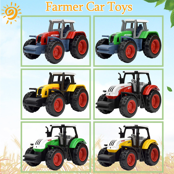 6 Style Diecast Alloy Farm Vehicles Model Car Toys for Kids Mini Pocket Tractor Educational Preschool Toys Gifts for Boys Party Favors