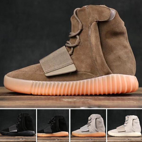 2019 Mejor SPLY 750 del diseñador del Mens del top del alto al aire libre las zapatillas de deporte de Kanye West venta caliente Lady Grey Brown Khaki Negro cp8607 monopatín informal
