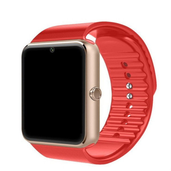 SmartWatch golden with red band