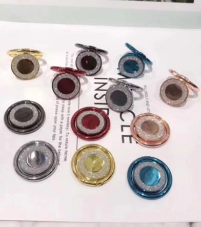 NOVA Magnética anel de diamante suporte do telefone suporte do telefone suporte de liga de alumínio CD padrão de folha magnética Desktop carro colorido suporte