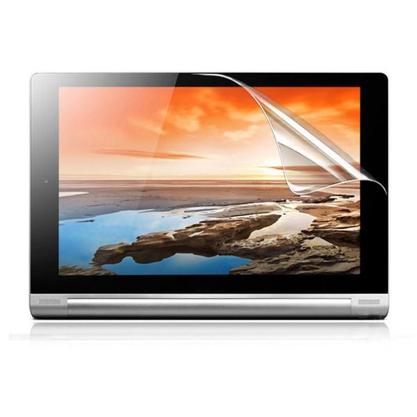3-lagiger PET-Film-LCD-Schutz für Lenovo Yoga Tablet 2 10.1 Zoll 1050F Staubdicht, kratzfest, hohe Empfindlichkeit