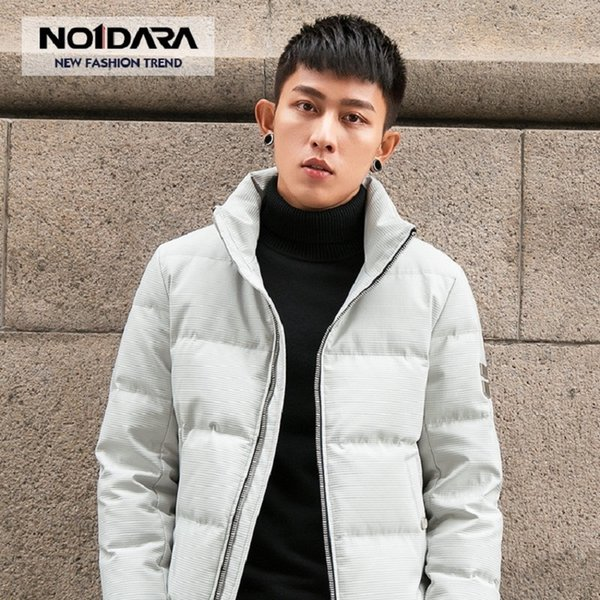 NO.1 DARA Men Winter Hooded Jacket 2018 New White Duck Down Coats Jackets Male Casual Plus Size S-2XL Short Down Parkas Hombre