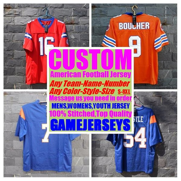 outlet store 17186 9ce64 2019 Custom College American Football Jerseys Mens Womens Youth Kids Soccer  Rugby Stitched Authentic Jersey 4xl 5xl 6xl 7xl 8xl Athletic Wear Usa From  ...