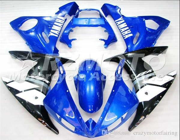 3 gifts New Injection ABS Fairing kits 100% Fit for YAMAHA YZFR6 03-04 YZF R6 2003-2004 YZF600 bodywork color Blue White Black B30
