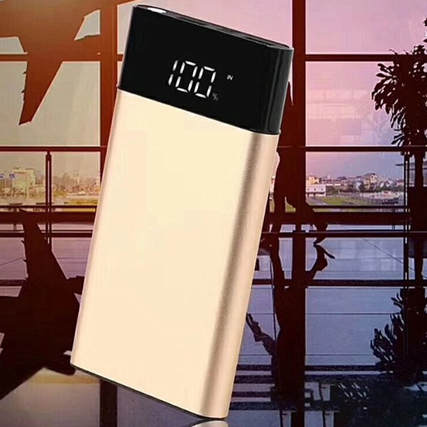 PowerBank Aluminum alloy 10000mAh with LCD digital power bank charging large capacity portable mobile power for iPhone X